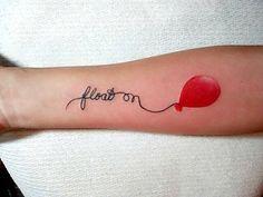 Float on balloon tattoo.