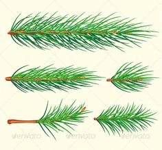 Pine Branches  #GraphicRiver         Vector brush «pine branch». See palette brushes. Included files: .ai (CS5), .