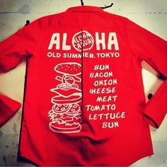 【stylist.junkosan】さんのInstagramをピンしています。 《ALOHAワークシャツのバックプリント^_^いい感じ〜🌺 🌴 #OldSUmmer#オールドサマー#純子さん#スタイリスト純子さん#スタイリスト#tシャツ#ハワイ#アメカジ#カジュアル#ウェア#キナコキナシタ#さまぁーず#サマァーズ#さまぁーずスタイリスト#アロハカジュアル#アロカジ#メードインジャパン#summer#海#バケーション#おしゃれ#コーデ#ファッション#赤#ワークシャツ#hawaii》