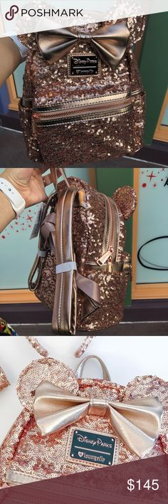 Disneyland limited edition rose gold backpack Limited edition Disneyland backpack Rose gold brand new Disneyland exclusive not yet sold online or at Walt Disney World but SOLD OUT at Disneyland Buy now to make sure you don't miss out! Disney Bags Backpacks