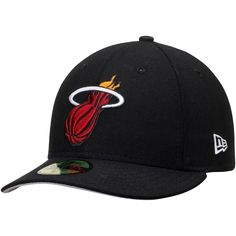 c30a4c51d58 Men s Miami Heat New Era Black Low Profile 59FIFTY Fitted Hat