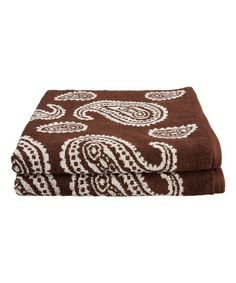 Another great find on #zulily! Chocolate Luxurious Paisley Bath Towel - Set of Two #zulilyfinds