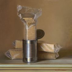 Jeffrey T. Larson, Canned Crackers Oil on Canvas