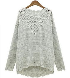 HOLLOW OUT LONG-SLEEVED SWEATER AS107C on Luulla
