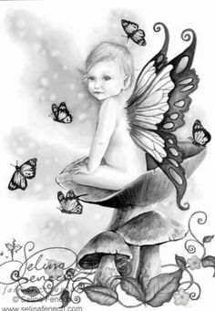 Fairy Myth Mythical Mystical Legend Elf Fairy Fae Wings Fantasy Elves Faries Sprite Nymph Pixie Faeries Hadas Enchantment Forest Whimsical Whimsy Mischievous Coloring pages colouring adult detailed advanced printable Kleuren voor volwassenen coloriage pour adulte anti-stress kleurplaat voor volwassenen Line Art Black and White