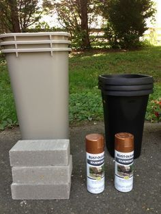 Curb Appeal • She Used Bricks And TRASH CANS To Make THIS For Her Front Yard, And It's SO CUTE!