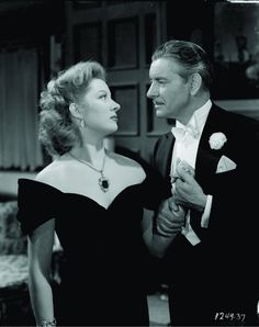 """Greer Garson & Ronald Colman in """"Random Harvest"""", one of my favorite movies.  I just like to 'listen' to this movie."""