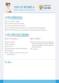 Check-list maternité - partie 1 - Planet-cards, le blog do it yourself Carte Vitale, List, Kids And Parenting, Baby Love, Kids Fashion, Pregnancy, Maternity, Childhood, Nursery