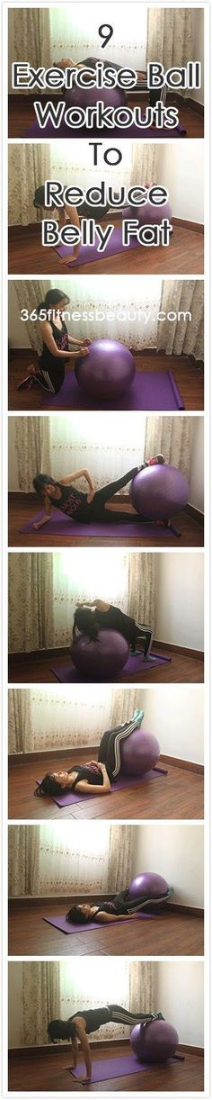 9 Exercise Ball Workouts To Reduce Belly Fat At Home