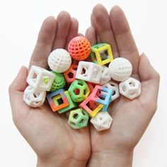 Neon sours and geometric peppermints - made using a 3D printer!