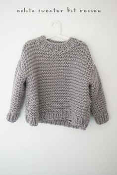 We Are Knitters Nolita Sweater Kit Review - This was my first attempt at knitting a jumper and I found the pattern really easy to follow.