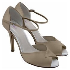 Gold Satin Bride/Party/Dance Strappy Sandal Shoe~Faye By Rainbow Club