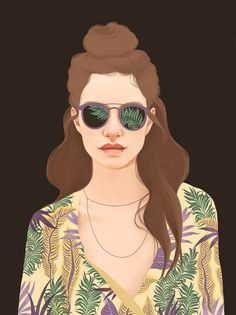 Illustrated Portraits by Mercedes deBellard – Inspiration Grid | Design Inspiration #illustration #drawing #portrait #art #artwork #illustrationinspiration #inspirationgrid