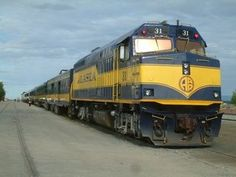 Alaska Railroad EMD Diesel Locomotive.: