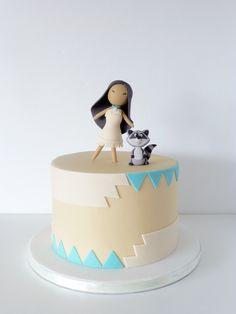 Peaceofcake ♥ Sweet Design: Pocahontas Cake • Bolo Pocahontas
