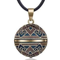 76.2cm+114cm cha/îne EUDORA Harmony Ball Arbre de Vie Ange Cloche Pendentif Collier Grossesse Mexicaine Bola Femmes Filles Bijoux Cadeau