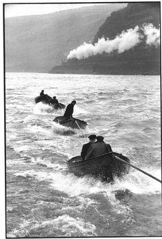 Henri Cartier-Bresson - Tug-boat pilots on the Rhine 1956