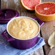 A healthier grapefruit curd that's just as fitting in a dessert as it is swirled into yogurt.