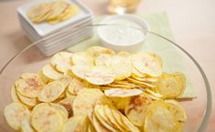 Epicure's Silicone Chipster 4 Minute Potato Chips Appetizer Recipes, Snack Recipes, Healthy Recipes, Snacks, Appetizers, Yummy Eats, Yummy Food, Epicure Recipes, Healthy Chips