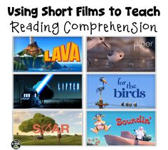 I love using short films to teach reading comprehension skills, and my students love watching them! Show a short film and students are engaged! Also, students who typically Reading Comprehension Skills, Reading Strategies, Reading Activities, Teaching Reading, Guided Reading, Close Reading, Summarizing Activities, Main Idea Activities, Reading Tutoring