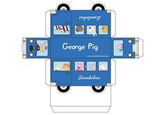 See how cool this Peppa Pig Bus is to print. Another help to use in decorating your party, and I'm sure the kids will Peppa Pig Outfit, Peppa Pig Shirt, Peppa E George, George Pig Party, Peppa Pig Printables, Cumple Peppa Pig, Peppa Pig Family, Pig Birthday, Party Themes