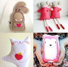 Handmade Valentine's Toys – Valentines Plush Animals – Stuffed Dolls for kids | Small for Big