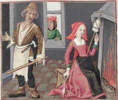 [folio 060v] MS. Douce 195 (Le roman de la rose) Robinet Testard  http://romandelarose.org/#browse;Douce195