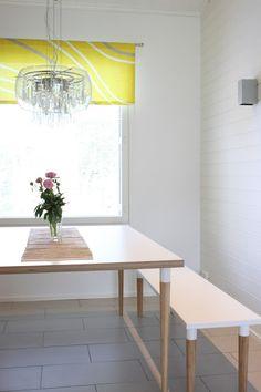 Tee-se-itse: ikilevy mittatilauksena & Ikea pöydänjalat