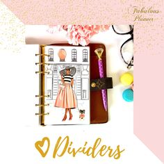 Planner Dividers, Inspirational Gifts, Happy Planner, Girl Gifts, Girly, Bullet Journal, Gift Ideas, Binder Dividers