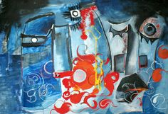 ''Blue Secret'' 2009, acrylic on canvas / 100 × 70