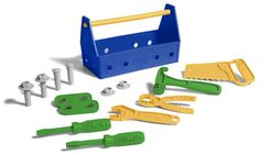 Lots to love about this Green Toys™ Tool Set.  The carry container is key - our kids actually play at putting BACK their tools!