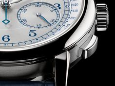 A. Lange 1815 Chronograph Boutique editon Ref 414.026 white gold - pusher detail - Perpetuelle