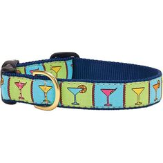 Perfect for any party animal, this charming pet collar features a colorful martini motif.  Product: Dog collarConstr...