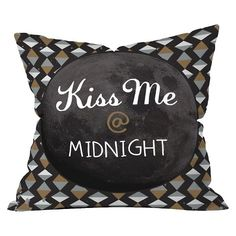 "DENY Designs Kiss Me At Midnight Throw Pillow - Black (20""x20"")"