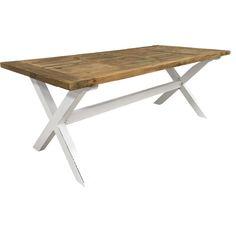 New Line East matbord i rustik vitlack / återvunnet trä.  Återvunnet trä får nytt liv i East serien där en perfekt patina skapas genom handmålade och handlackerade ytor och detaljer. Med dessa vackra möbler sätter du en romantisk prägel på ditt hem som för tankarna till det rustika och det lantliga.  Matbord i rustik vitlack och återvunnet trä, med möjlighet till 2 klaffar á 50 cm som säljes separat.