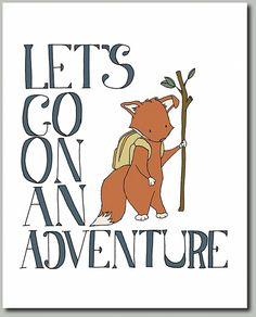 Fox Art Prints Woodland Nursery Decor Boy by SweetMelodyDesigns