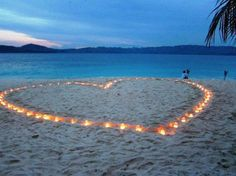 So sweet and stunning. Will have to do this on the beach in front of our reception house.