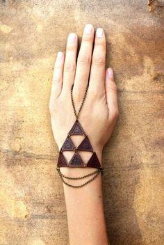 TRIBAL Triangle SLAVE Leather BRACELET