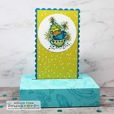 Birthday Free Standing Pop-Up Card by Alliosn Cope featuring clear stamps from Power Poppy Butterfly Cards, Flower Cards, Birthday Sentiments, Birthday Cards, Poppy Cards, Honey Bee Stamps, Miss You Cards, Celebrity Drawings, Card Maker