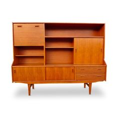 72 in. Hightop Teak Credenza by A.H. McIntosh at the Foundary