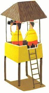 www.socorrismo.com  Dos socorristas en un puesto de salvamento