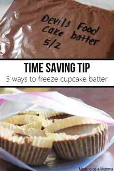 tips on how to freeze cupcake batter - great so that I don't feel like I have to eat all 24!