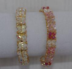 Jewelry by DeAnna Diy Beaded Bracelets, Seed Bead Bracelets, Crystal Bracelets, Bangle Bracelets, Beaded Jewelry, Diy Jewellery, Yarn Dolls, Bracelet Tutorial, Bracelet Patterns