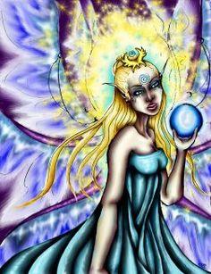 """Aene's Light"" Major Arcana The Sidhe Queen Oracle -    PHANTOM'S  ROSE: the Fantasy Faery WORLD  of  Coriander Shea ©Coriander Shea Detwiler."
