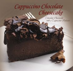 Chocolate, coffee, and cheesecake ... All my favorites!