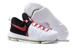 4ac202a1d9b4 Nike KD 9 White Black Red Men s Basketball Shoe Top Deals