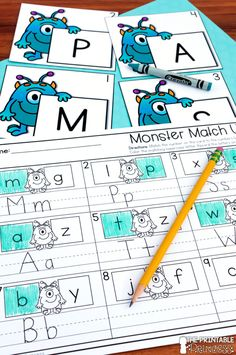 These Back to School monsters are sure to be a hit in your Kindergarten classroom this fall! Alphabet Activities, Preschool Worksheets, Kindergarten Activities, Pre School, Back To School, Middle School, High School, Beginning Of The School Year, Kindergarten Classroom