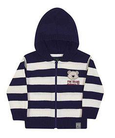 baby boy zipup hoodie sweater winter jacket pulla bulla 912 months navy blue