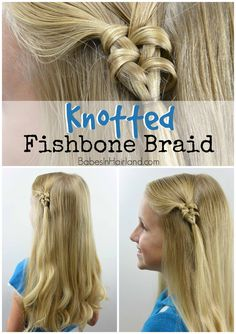 Knotted Fishbone Braid from BabesInHairland.com #fishbone #fishtail #braid #hair #hairstyle