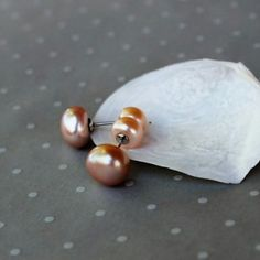 Love First! New creations just landed. These gorgeous natural pearls made a such stunning pair😀